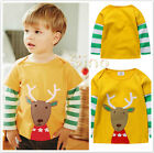 Toddler Baby Boy Kids Clothes Long Sleeve Stripe T-Shirt Cotton Tops Outwear New