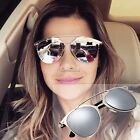 Unisex Adult Mirrored Metal Sunglasses Trendy Vintage Protect Eyes Popular N4U8
