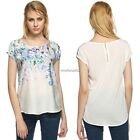 2016 Casual Tops Floral Blouse Women Short Sleeve T Shirt Gradient Trendy N4U8