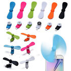 Mini Fan Portable Super Mute USB/Micro Cooler Cooling For Mobile Phone Tablet