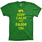 Keep Calm and Farm On tee funny country farming t-shirt