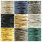 WAXED COTTON CORD 1mm, 1.5mm & 2mm *11 COLOURS* WAX STRINGING UK SELLER