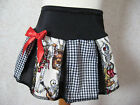 New COOL Girls Black red White Skeletons check skulls  pleated skirt party gift
