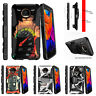 For Motorola Moto Z Force Driod Holster Clip Stand Case Speedometer Flames