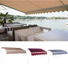 DIY Manual Patio Awning Outdoor Deck Retractable Shade Sun Shelter Canopy