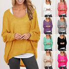 Plus Size Womens Ladies Loose Long Sleeve Shirt Blouse Baggy Tops Batwing Jumper