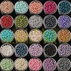Wholesale 4mm 6mm 8mm 27 Colors Round Pearl Loose Glass Spacer Beads Bulk Lots