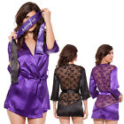 Womens Sexy Lace Lingerie Night Gown Babydoll Short Robe Underwear