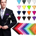 Men Fashion Satin Solid Pocket Square Man Wedding Hanky Handkerchief Aeecssories