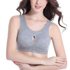 Bluewhalebaby Pure Cotton Gather Seamless Wire Free Yoga Jogging Sports Bra