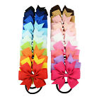 3 Inch Girls Kids Boutique Baby Bows Grosgrain Ribbon Bowknot Elastic Band