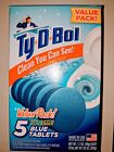 TY D BOL TY D BOWL BLUE TOILET BOWL CLEANER TABLETS VALUE 5 PACK FREE SHIPPING
