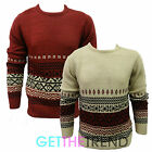 Mens Womens Retro Knitted Aztec Fair Isle Sweater Mens Medium Knit Top Jumper