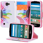 For LG Optimus Zone 3 / K4 / Spree Hybrid Leather Wallet Pouch Case Flip Cover