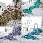 Soft Knitting Mermaid Tail Blanket for Adults All Seasons Sleeping Bags 190X90cm