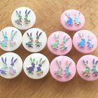 10 irridescent bunny buttons pink or white 15mm diameter (size 24) shank on back