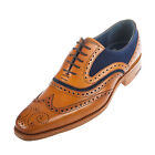 BARKER Men's Mcclean Leather/Suede Brogue Shoe