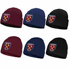 West Ham United FC Official Soccer Gift Kids Knitted Bronx Beanie Hat Crest