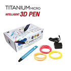 TITANIUM MICRO 3D Printing Drawing Pen V4 Modeling Printer Tool W/ Filament Arts