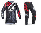 NEW 2017 FLY RACING KINETIC RELAPSE GEAR COMBO BLACK/RED ALL SIZES