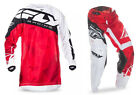 NEW 2017 FLY RACING KINETIC CRUX GEAR COMBO RED/WHITE ALL SIZES