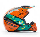 NEW FLY RACING KINETIC CRUX MX OFFROAD ADULT HELMET TEAL/ORANGE/BLACK ALL SIZES