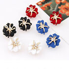 Charm Women Starfish Flower Crystal Rhinestone Ear Studs Earrings Jewelry New