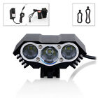 10000 Lm 3 x T6 LED Bicycle Lamp Bike Light Headlight Cycling Torch 4 Modes New