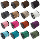 New 3mm Genuine leather Suede Cord Beading Thread Lace Flat Jewellery Making DIY
