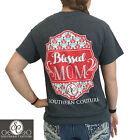 Southern Couture Preppy Classic Blessed Mom Bright Girlie T-Shirt