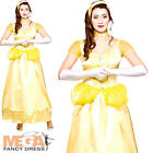 Beautiful Belle Princess Ladies Fancy Dress Fairytale Womens Adults Costume 6-24