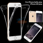 Clear 360° Full Body TPU Soft Protective Case Cover For iPhone 6s/6/7/7 plus/SE