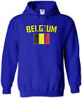 Threadrock Men's Belgium Flag Hoodie Sweatshirt Brussels National Team
