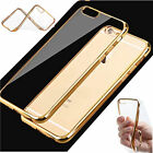 Super Thin Clear Rubber Plating TPU Soft Case Cover For iPhone 6 6s 6/6s Plus
