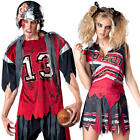 Zombie American Footballer or Cheerleader Halloween Fancy Dress  Adults Costumes