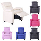 Childrens Luxury Recliner Chair Comfy Faux Leather Armchair Various Styles