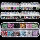 1.5mm-5mm Round Nail Art Rhinestones Glitter Acrylic Tips Decoration Case S0BZ