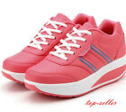 Womens Girls Casual Creeper Platform Lace Up Pumps Sport Tennis Shoes Sneakers