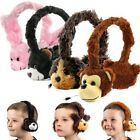 Kids Childrens Fluffy Animal 3.5mm Fun Headphones for Samsung Galaxy Tab Tablets