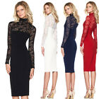 Women's Summer Casual Lace Dress Ladies Bodycon Evening Party Cocktail Clubwear