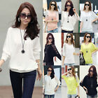 Women's Lace Loose Long Sleeve Casual Blouse T Shirt Tops New Fashion Blouse