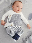 Baby Toddler Boy Elephant Tops T-shirt Stripe Long Pants Kids Set Outfits 1-4T