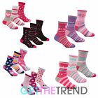 Girls Multipack Design Socks Girls Cotton Rich Princess Hearts Stars Socks Gift