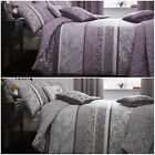 Stunning Striped & Floral Print – Reversible Duvet Cover Set with Pillowcase