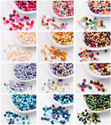 100/200/400pcs Pearlized Glass Pearl Beads Mixed Color Mixed Style 4/6/8mm