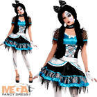 Shattered Doll Girls Fancy Dress Halloween Zombie Rag Dolly Teens Kids Costume