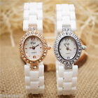 Fashion Ladies Luxury Ceramic Watch Rhinestone Waterproof Quartz Wristwatch