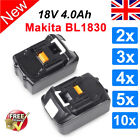 New 18V 4.0Ah Battery Lithium Ion For Makita LXT BL1830 BL1840 BHP453 Replace