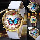 Womens Butterfly Leather Strap  Analog Quartz Wrist Watch Hot Selling