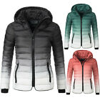 Rock Angel Damen Winter Stepp Jacke Kapuze Farbverlauf Ombre Dip Dye 44366A
